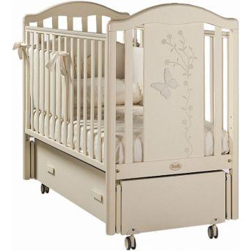 Кроватка детская Feretti Privilege Swing (продольный маятник) (слоновая кость)