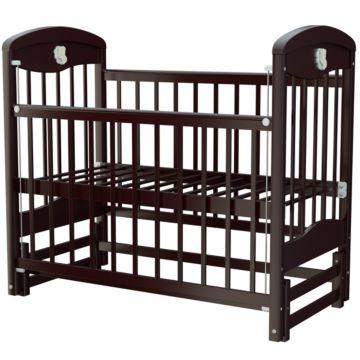 Кроватка детская Briciola 2 с продольным маятником (темная)