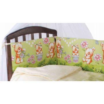 Бампер для кроватки Baby Care Мишка с лейкой