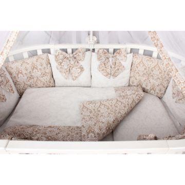 Комплект постельного белья AmaroBaby Элит Premium (18 предметов, бязь) (кофе)