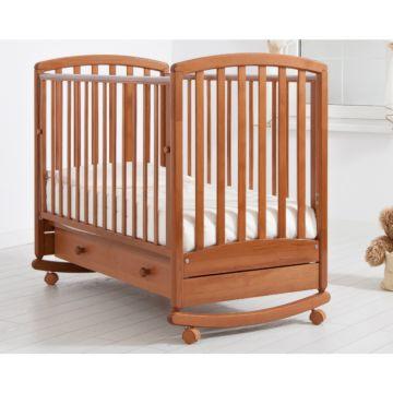 Кроватка детская Гандылян Дашенька (качалка-колесо) (вишня)