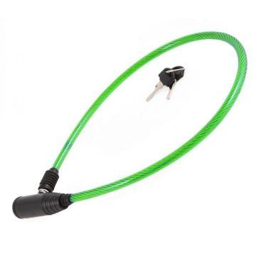 Велозамок тросовый Vinca Sport 8х650мм (зеленый)