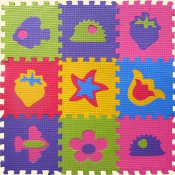 Коврик-пазл Babypuzz Веселые фигурки 33*33*2