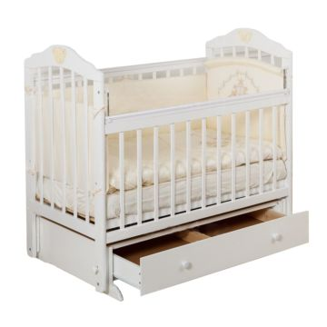 Кроватка детская с ящиком Incanto Sofi (поперечный маятник) (слоновая кость)