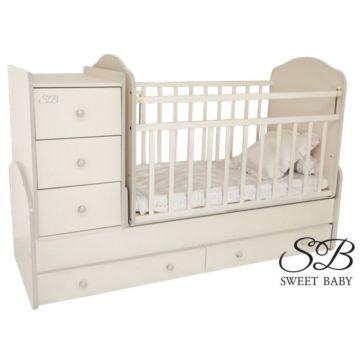 Кроватка-трансформер Sweet Baby Christiano Bianco