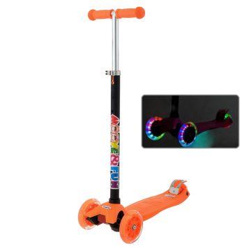 Самокат Moove&Fun Maxi Led со светящимися колесами (оранжевый) ДИСКОНТ