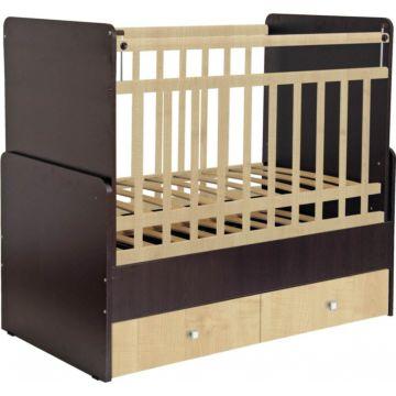 Кроватка детская Фея 720 (поперечный маятник) (Венге-клен)