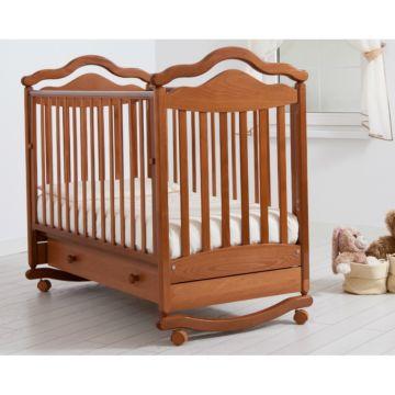 Кроватка детская Гандылян Анжелика (качалка-колесо) (вишня)