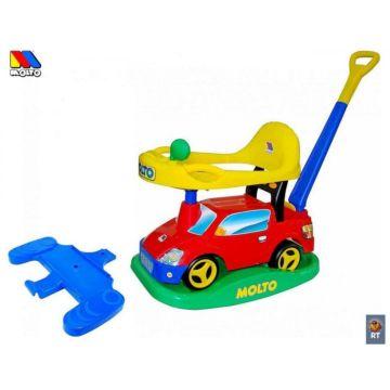Каталка-автомобиль Molto Пикап с ручкой №2 (Красный)