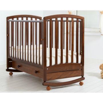 Кроватка детская Гандылян Дашенька (качалка-колесо) (орех)
