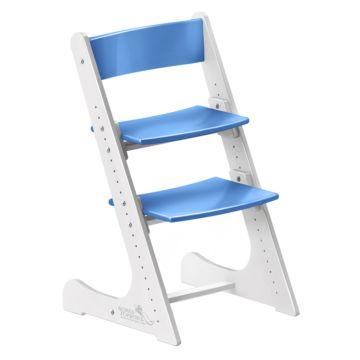 Растущий стул Конёк Горбунёк с лакокрасочным покрытием двухцветный (белый/синий)
