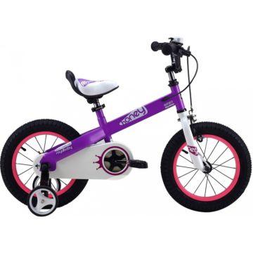 """Детский велосипед Royal Baby Honey Steel 14"""" (фиолетовый)"""