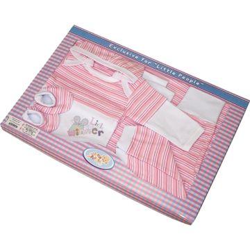 Комплект одежды для малыша Little People 6 пр. (розовый)