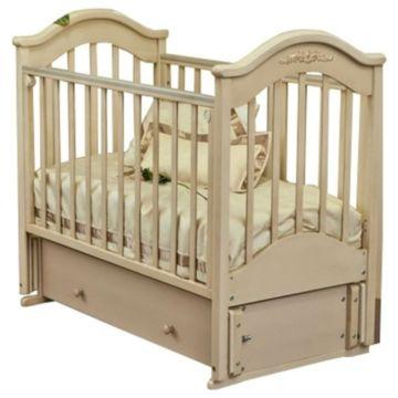 Кроватка детская Можга Ефросинья С 554 Пальметта (продольный маятник) (слоновая кость)