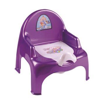 Горшок-кресло Dunya Plastik 11101 (фиолетовый)