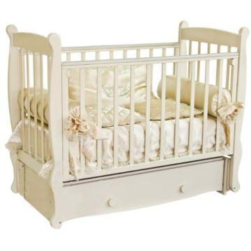 Кроватка детская Можга Елисей С 717 Паровозик (продольный маятник) (слоновая кость)