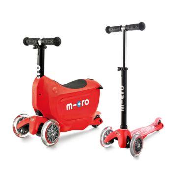 Самокат Micro Mini 2go Deluxe (красный)