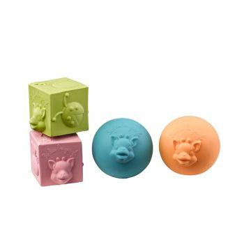 Набор развивающих игрушек-прорезывателей Vulli Мячики и кубики