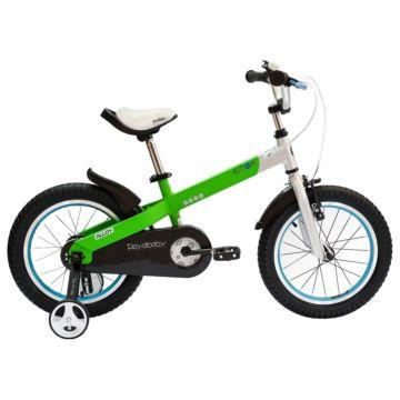 """Детский велосипед Royal Baby Buttons Alloy 18"""" (зеленый/серебро)"""
