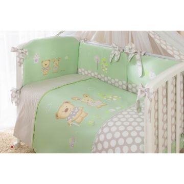 Комплект постельного белья Perina Венеция 105х170см (4 предмета, хлопок/сатин) (Салатовый)