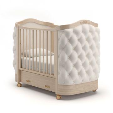 Кроватка детская Гандылян Тиффани с пуговицами (колесо) Бук