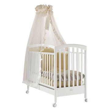 Кроватка детская Feretti Sauvage (колесо) (белая)