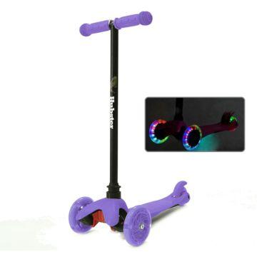 Самокат Hubster Mini Flash со светящимися колесами (фиолетовый)