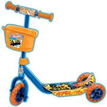 Самокат Toymart с корзиной Hot Wheels