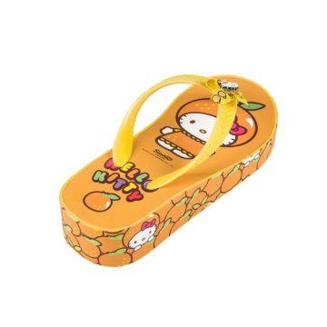 Шлепки детские Hello Kitty 5402B для девочек (оранжевые)