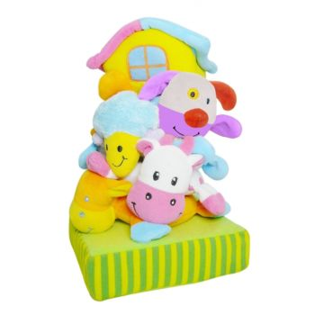 Развивающая игрушка Biba Toys Пирамидка Ферма