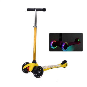 Самокат Ecoline Junior со светящимися колесами (желтый)