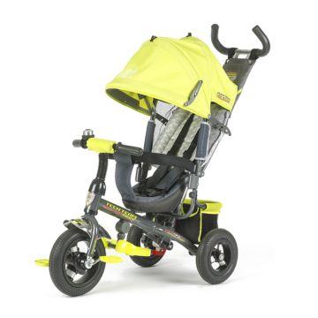 """Трехколесный велосипед TechTeam 952S-AT с надувными колесами 10"""" и 8"""" (салатовый)"""
