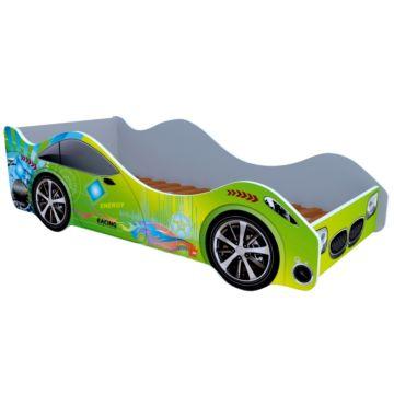 Кровать-машина Кроватка5 Машинки (Спорт зеленая)