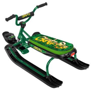 Снегокат Ника Детям Джамп (Graffiti green - зеленый каркас)