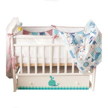 Кроватка детская by Twinz Маленький Кит с поперечным маятником