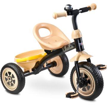 """Трехколесный велосипед Toyz Charlie с ПВХ-колесами 10"""" и 8"""" (бежевый)"""