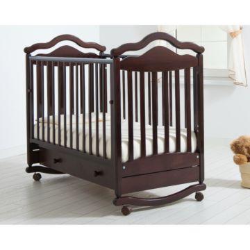 Кроватка детская Гандылян Анжелика (качалка-колесо) (махагон)