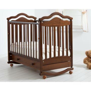 Кроватка детская Гандылян Анжелика (качалка-колесо) (орех)