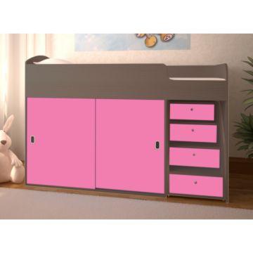 Кровать детская Ярофф Малыш Купе (бодего темный/розовый)