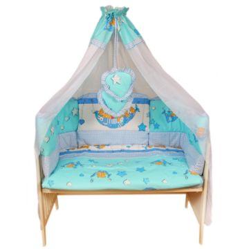 Комплект постельного белья Луняшки Баю-Бай 150х110см (3 предмета, шатель) (голубой)
