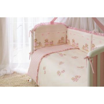 Комплект постельного белья Perina Тиффани Неженка (4 предмета, хлопок/сатин) (Розовый)