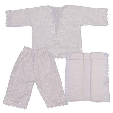 Крестильная рубашка и чепчик Арго для мальчика 68-74