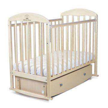Кроватка детская Альма-Няня Милана с ящиком (поперечный маятник) (береза)