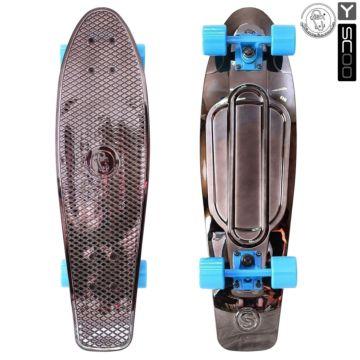 """Мини-круизер Y-Scoo Fish Skateboard Metallic 27"""" с сумкой (bronze)"""