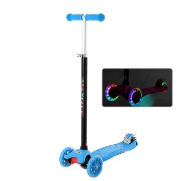 Самокат MaxCity Tiny со светящимися колесами (blue)