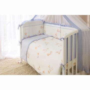 Комплект постельного белья Perina Тиффани Неженка (3 предмета, хлопок/сатин) (Голубой)