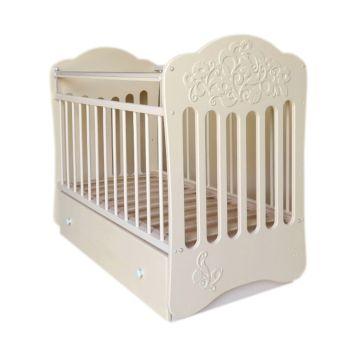 Кроватка детская Островок Уюта Виола (поперечный маятник) (слоновая кость)