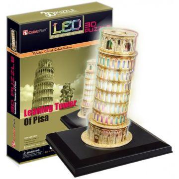 Игрушка CubicFun Пизанская башня c иллюминацией (Италия)