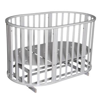 Кроватка-трансформер Антел Северянка 3 6 в 1 (поперечный маятник) белый