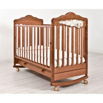 Кроватка детская Angela Bella Изабель (качалка-колесо) (вишня)